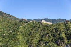 Chiny, Juyongguan Wielki Mur Porcelanowy wielki mur Chiny w górach Obrazy Royalty Free