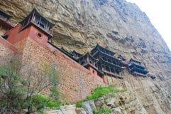 chiny klifu strony świątyni fotografia stock