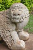 1189 chiny konstruowanej chińska dynastia e Jin lwa lat byłem kamień Zdjęcia Royalty Free