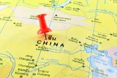 chiny lądową politycznej mapy Obrazy Royalty Free