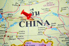 chiny lądową politycznej mapy Obraz Stock