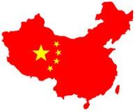 chiny mapa Fotografia Stock