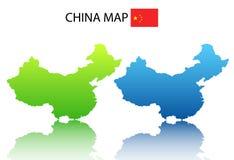 chiny mapa Zdjęcie Royalty Free
