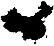 chiny mapa Zdjęcie Stock