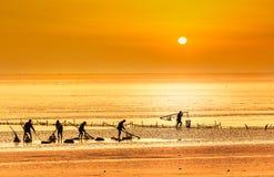 Chiny morze wschodnio-chińskie nabrzeżna plażowa sceneria Fotografia Royalty Free