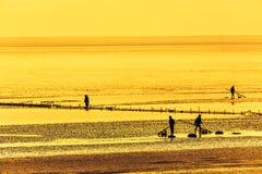 Chiny morze wschodnio-chińskie nabrzeżna plażowa sceneria Zdjęcie Royalty Free