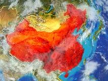 Chiny na ziemi od przestrzeni royalty ilustracja