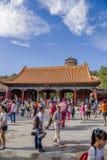 Chiny, Pekin Lato pałac (Yihe Juan) Brama Rozwiewać Chmurnieje (Paiyunmen) Obrazy Royalty Free