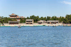 Chiny, Pekin Lato pałac (Yihe Juan) Budujący na brzeg Jeziorny Kunming Zdjęcia Royalty Free