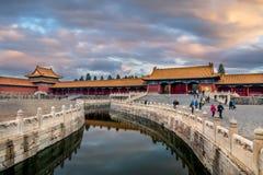 Chiny, Pekin niedozwolony miasto Obraz Stock