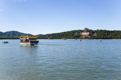 Chiny, Pekin pałac beijing lato Kunming jezioro i długowieczności wzgórze Zdjęcia Stock