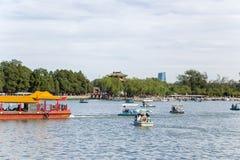 Chiny, Pekin pałac beijing lato kunming jezioro Zdjęcie Stock