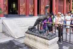 Chiny, Pekin Rzeźba w lato pałac Obrazy Stock