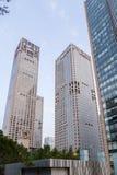 Chiny, Pekin Wysocy nowożytni budynki Zdjęcia Royalty Free