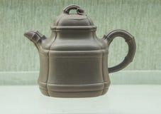 Chiny piaska purpurowy teapot Fotografia Stock