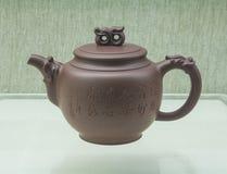 Chiny piaska purpurowy teapot Zdjęcia Stock