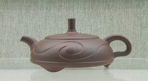 Chiny piaska purpurowy teapot Zdjęcie Royalty Free