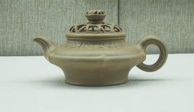 Chiny piaska purpurowy teapot Zdjęcia Royalty Free