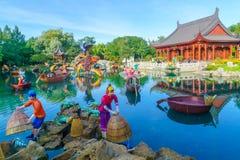 Chiny projektują statuy w ogródach botanicznych w Montreal, fotografia royalty free
