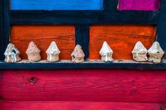 Chiny prowincja sichuan Dan yuba, Kolorowi rzemiosła w jiaju tybetańczyka wiosce zdjęcia stock