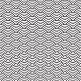 Chiny stylowy bezszwowy deseniowy seashell Zdjęcia Royalty Free