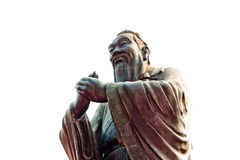 Chiny, Szanghaj: Confucius świątynia; rzeźba Zdjęcia Stock