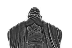 Chiny, Szanghaj: Confucius świątynia; rzeźba Obrazy Royalty Free