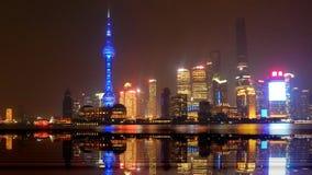 Chiny, Szanghaj, Huangpu wieczór deptak Zdjęcie Stock