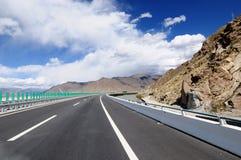 Chiny Tybet śnieżne halne drogi Fotografia Royalty Free