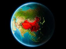 Chiny w wieczór Zdjęcie Stock