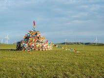 Chiny - Wewnętrzny mongoł Aobao zdjęcie stock