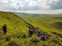 Chiny - Wewnętrzny Mongolski obszar trawiasty zdjęcie stock