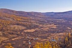 Chiny Wewnętrzny Mongolia Arxan jesieni sceneria Zdjęcie Stock