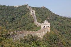 chiny wielki mur Mutianyu Obrazy Royalty Free