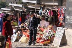 chiny wielki mur Mutianyu Rynek dla turystów Fotografia Royalty Free