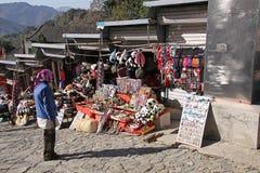 chiny wielki mur Mutianyu Rynek dla turystów Zdjęcia Stock