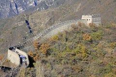 chiny wielki mur Mutianyu Wierza Obraz Royalty Free