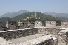 chiny wielki mur Mutianyu Wierza Zdjęcie Royalty Free