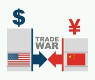 Chiny wojna handlowa - oszczędnościowa ilustracja Obrazy Royalty Free