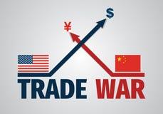 Chiny wojna handlowa - oszczędnościowa ilustracja Zdjęcie Royalty Free