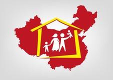 Chiny znosił swój dziecko polisy pojęcie Editable klamerki sztuka ilustracja wektor