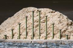 Chiodi dell'inquadratura con gli elementi rustici Immagine Stock Libera da Diritti
