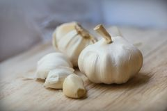 Chiodi di garofano di aglio e lampadina dell'aglio Immagine Stock