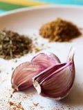 Chiodi di garofano di aglio Fotografia Stock Libera da Diritti