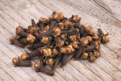 Chiodi di garofano (eugenia caryophyllata) Fotografia Stock