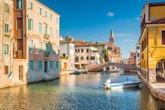 Chioggia, άποψη της φλέβας καναλιών Στοκ εικόνα με δικαίωμα ελεύθερης χρήσης