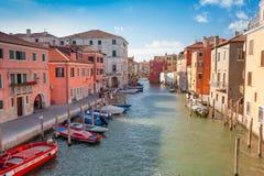 Chioggia, άποψη της φλέβας καναλιών Στοκ φωτογραφία με δικαίωμα ελεύθερης χρήσης