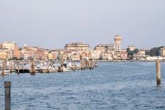 Chioggia в лагуне Венеции Стоковое Изображение