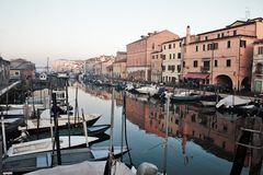 Chioggia beautiful town in Veneto, also discover how the small Venice. royalty free stock photo
