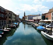 Chioggia city in venetian lagoon, Italy royalty free stock image